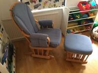 Feeding chair and footstool