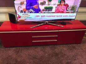 Ikea red gloss tv unit