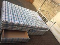 Top quality double divan bed with 2 drawers and mattress