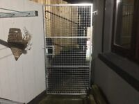 Galvanised dog cages