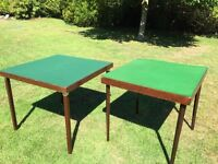 Two folding wooden card tables. Both in very good condition