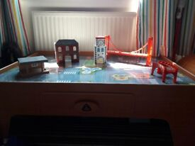 ELC train table with track and trains