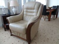 Pair of leather chairs (one recliner) - excellent condition - low price for quick sale