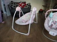 2 girls baby bouncers cheap