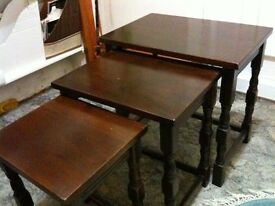 nest of 3 coffee tables