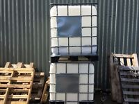 2 x IBC WATER/ OIL CONTAINER STORAGE 1000 LTR