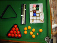 Junior BCE snooker table 5 foot by 2foot 6 inch plus accessories