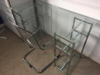 Tempered glass desk/table and chair