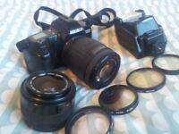Minolta Dynax 3000i SLR Camera, Sigma Lenses and accesories kit