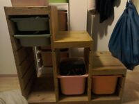 IKEA wooden Trofast step style storage