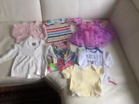 bundle of baby girl clothes 0-12 months (41 item)