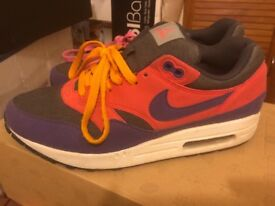 Nike air max 1 black, red, purple uk size 8, good condition