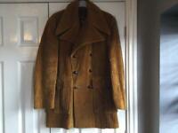 Vintage men's heavy corduroy mid length jacket