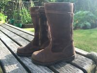 Timberland Girls Brown suede and leather tall boot UK 1 EU 33