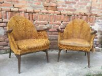 CHAIRS Vintage PAIR Hall ARM MID-CENTURY German 1950s Iconic Furniture Seats