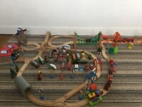 Wooden Brio/ELC train set & some Thomas trains (as pictured)