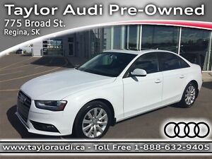 2013 Audi A4 2.0T QUATTRO, LOCAL TRADE, 220HP