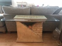 Lovely coffee table and console table, as a pair
