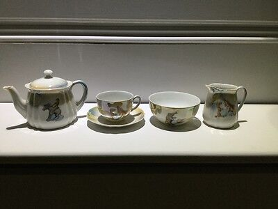 Children's antique tea set rare Circus animals child's tea set