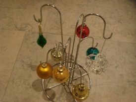 Christmas Baubles & Stand