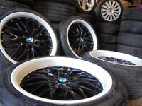 18inch DEEP DISH bmw bbs m sport Alloys Wheels 3 e46 e90 1 Series Vw T5 transporter Vauxhall Vivaro