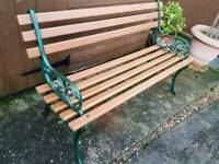 Refurbishes cast iron and hardwood garden bench.