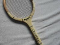 Wooden framed Tennis Racket with Press