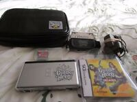 Guitar Hero Nintendo DS Lite Bundle with Guitar Hero Game also with charger, Stylus and Special case