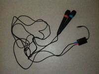 Singstar microphones 9ft lead and USB adapter
