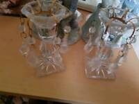 Crystal cut tea light holders