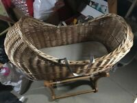 Baby's Moses Basket with Rocking Stand