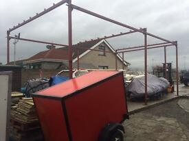 Steel beam shed 32ft by 18ft 13ft high
