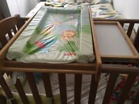 Cot top wooden changing mat