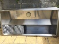 used stainless steel kitchen extractor canopy