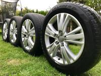 """GENUINE AUDI Q7 19"""" ALLOY WHEELS WITH TYRES & CENTRE CAPS IN EXCELLENT CONDITION"""