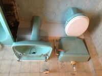 Cast Iron Bathroom Suite - Toilet,Sink and Bath