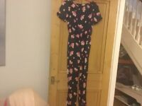 J crew jumpsuit, age 16 in navy and pink