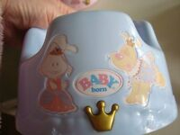 my 1st little baby born /annabell musical pottie as new perfect gift