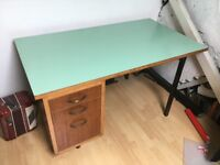 Retro teak desk with formica top -1970s