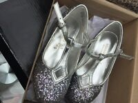 Monsoon girls party shoes.