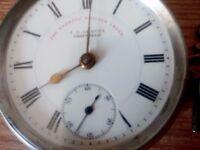 Solid Silver Antique Pocket Watch