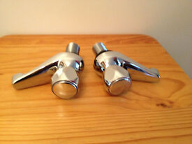 Pair of chrome finish, Bathroom, Basin, Sink Taps
