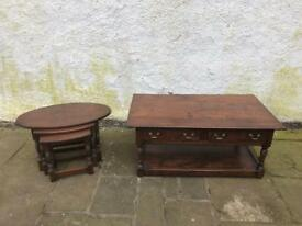 John Young of Keswick solid oak Nest of Tables * free furniture delivery *