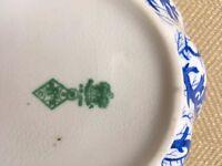 Beautiful china bowl, coral print, blue