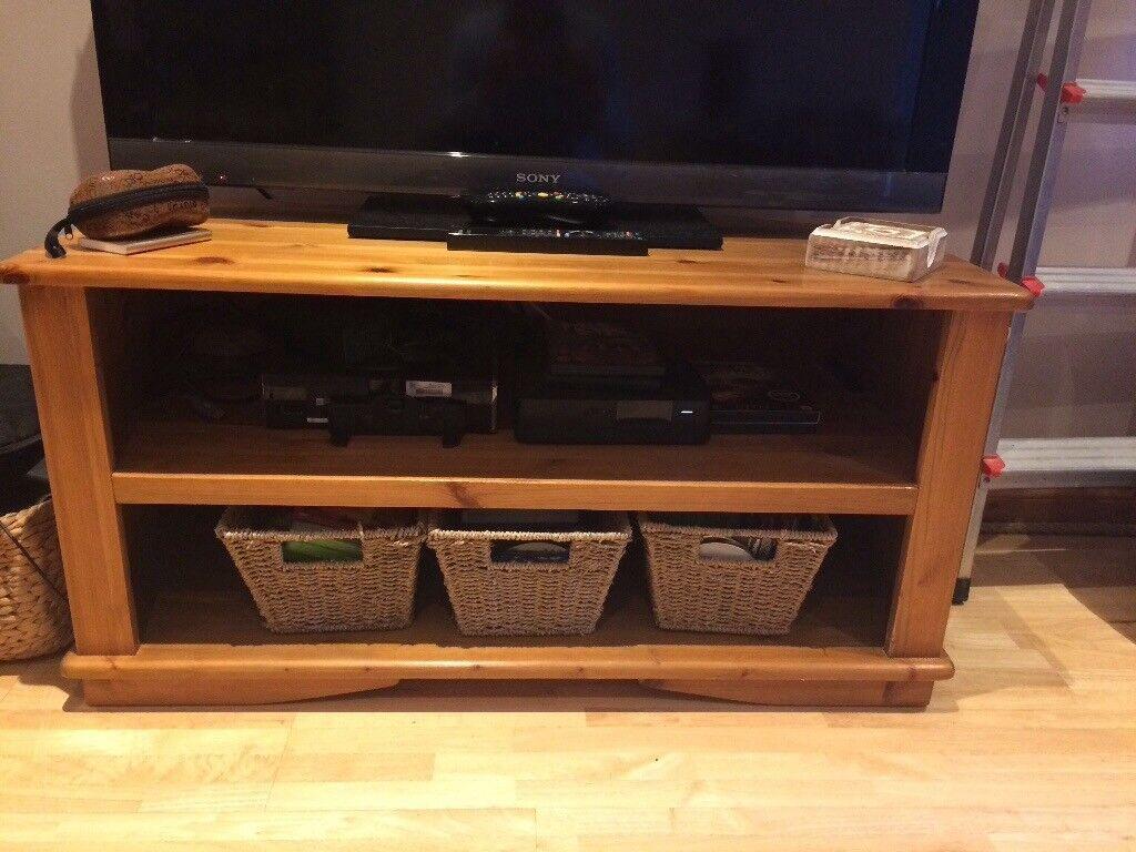 Tv unit pine in oak finish