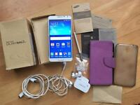 Samsung galaxy note 3 white unlocked boxed