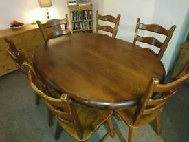 Danish Oak dining table and chairs