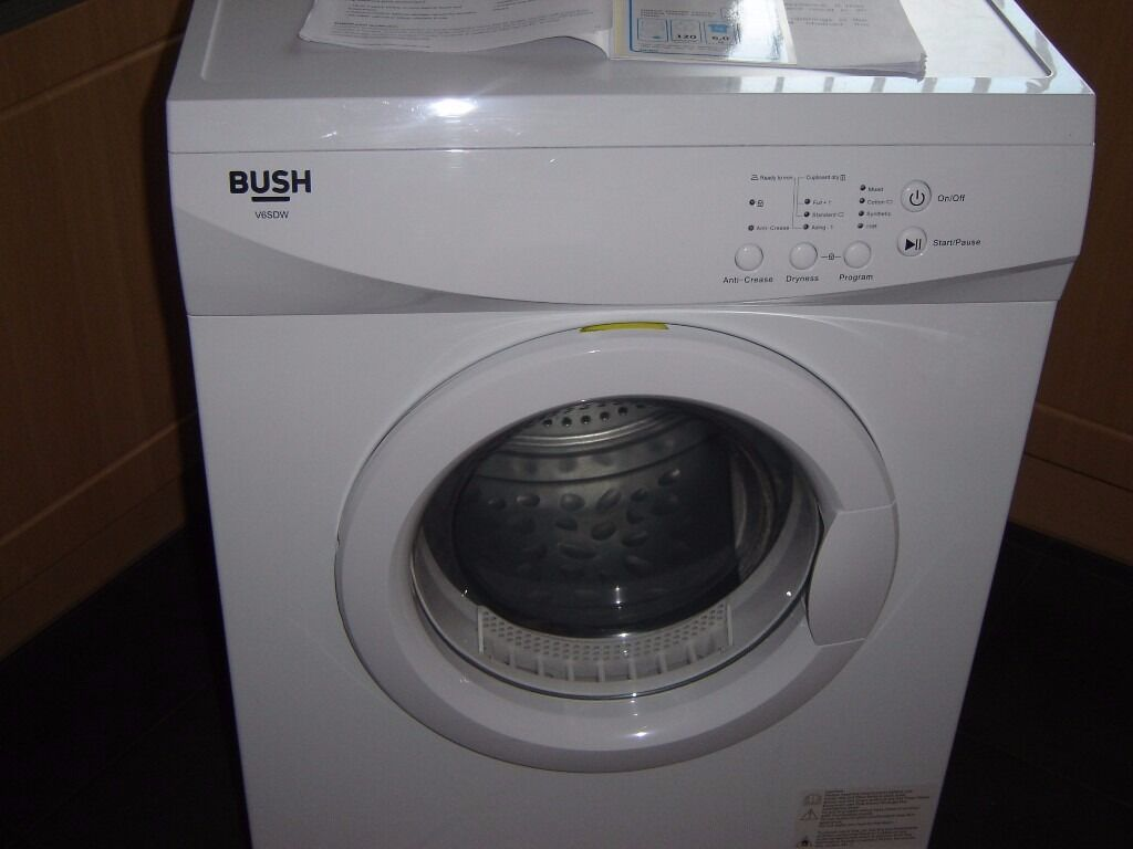 Bush V6SDW Vented Tumble Dryer for sale in mint condition - only 10 months old still under warranty