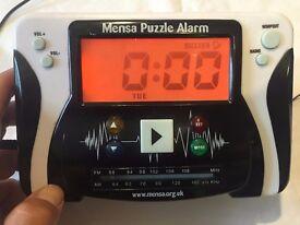 Alarm clock - MENSA puzzle clock