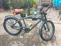 Felt M.P. Beach Cruiser/ww2 Dispatch Rider Bike,Very Rare Only Made For 6 Months